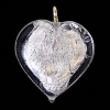 Glass Lamp Pendant Heart 13mm Crystal/Silver